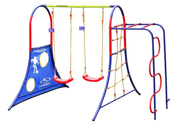 neuheit hudora spielplatz 64019 f r bis zu 4 kinder. Black Bedroom Furniture Sets. Home Design Ideas