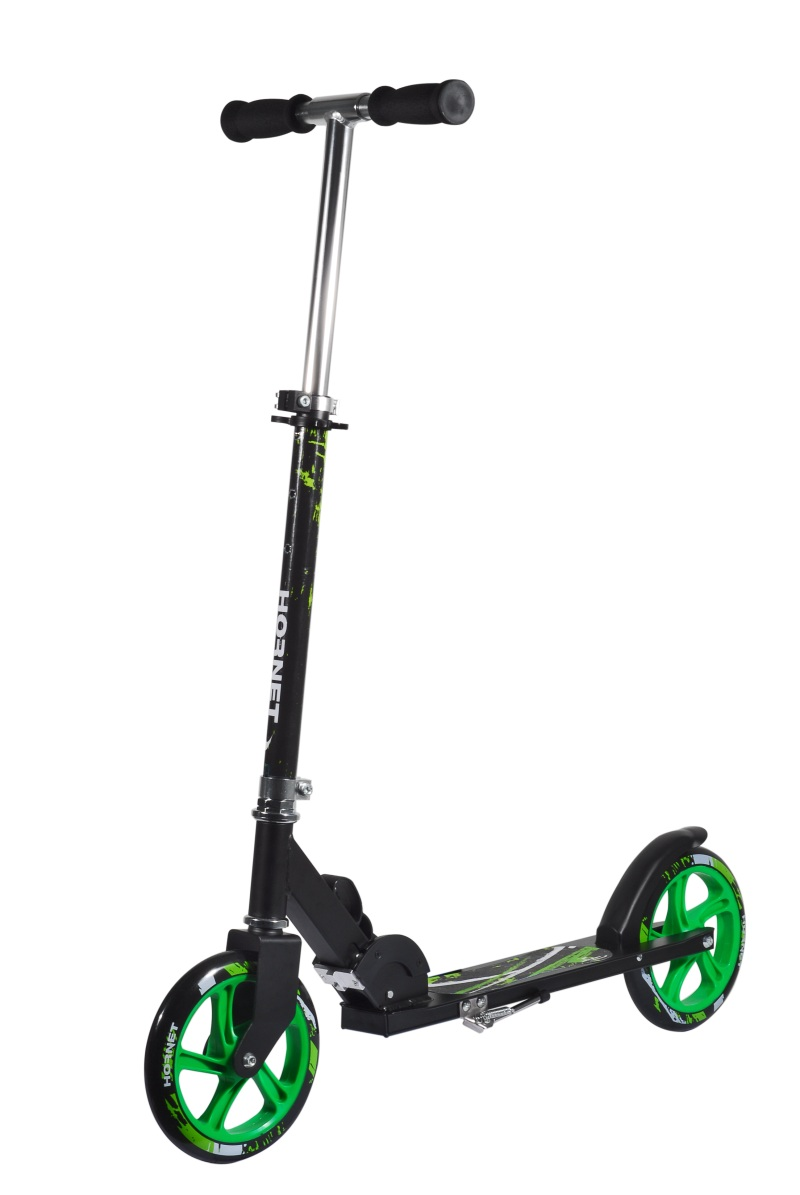 Aktion-Hudora-Hornet-Scooter-205-neongruen-14929-Roller-Cityroller-Big-Wheel