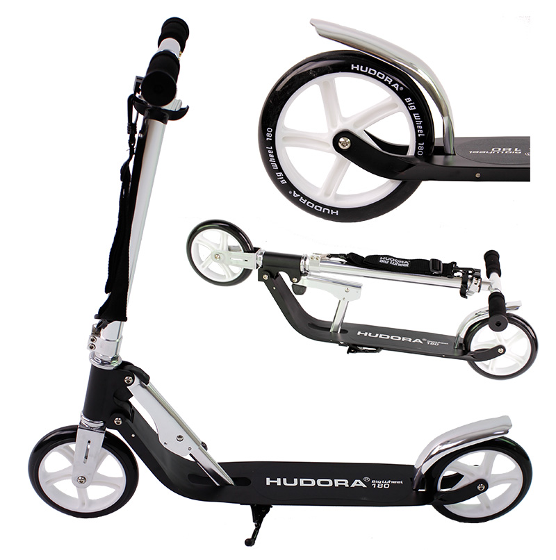 hudora roller scooter big wheel 180 schwarz st nder. Black Bedroom Furniture Sets. Home Design Ideas